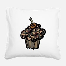 Camo Camouflage Cupcake Square Canvas Pillow
