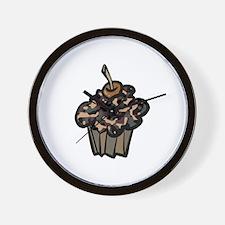 Camo Camouflage Cupcake Wall Clock