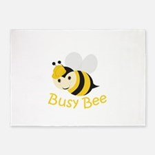 Busy Bee 5'x7'Area Rug