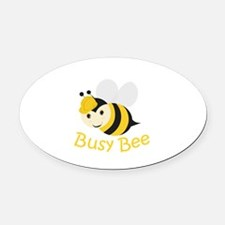Busy Bee Oval Car Magnet