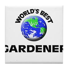 World's Best Gardener Tile Coaster