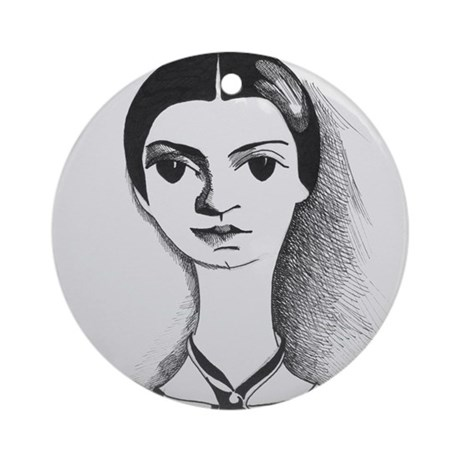 Emily Dickinson Ornament (Round)
