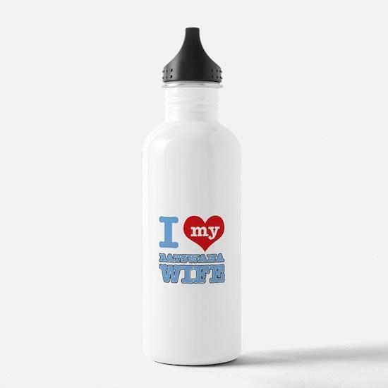 I love my Botswana wife Water Bottle