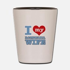 I love my Botswana wife Shot Glass