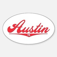 Austin TX Oval Decal