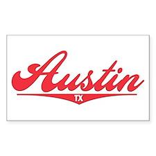 Austin TX Rectangle Decal