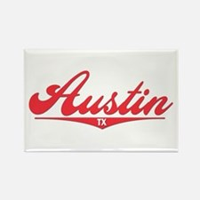 Austin TX Rectangle Magnet