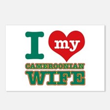 I love my Cameroonian wife Postcards (Package of 8