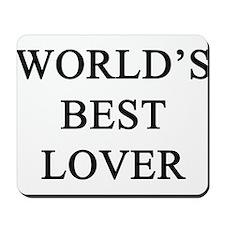 worlds best lover Mousepad