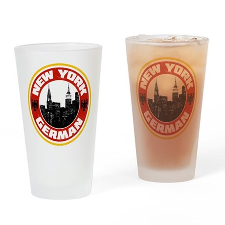 New York German American Drinking Glass