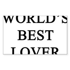 worlds best lover Rectangle Decal