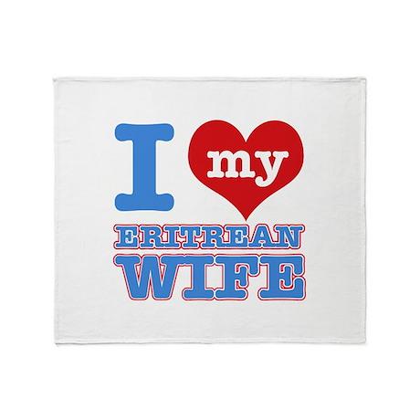 I love my Eritrean wife Throw Blanket