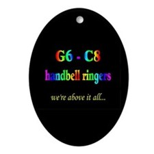 G6-C8 Black Oval Ornament