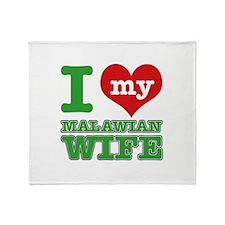 I love my Malawian wife Throw Blanket