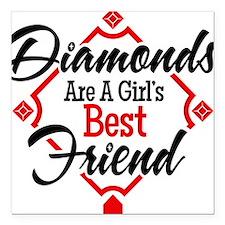 "Diamonds BR Square Car Magnet 3"" x 3"""