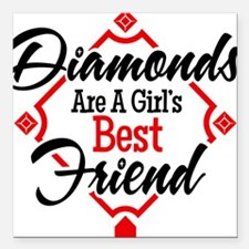 "Diamonds BR Square Car Magnet 3"" x 3"""
