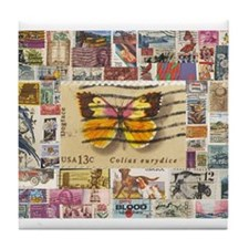 Stamp Collection Tile Coaster