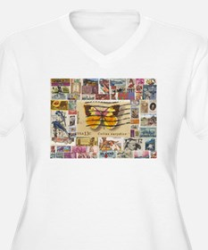 Stamp Collection Plus Size T-Shirt