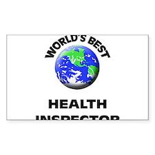 World's Best Health Inspector Decal