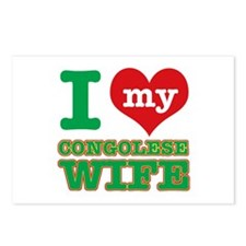 I love my Congolese wife Postcards (Package of 8)