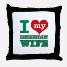 I love my Nigerien wife Throw Pillow
