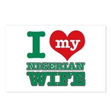 I love my Nigerien wife Postcards (Package of 8)