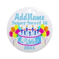 SUPER SWEET 16 Ornament (Round)