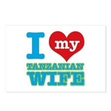 I love my Tanzanian wife Postcards (Package of 8)