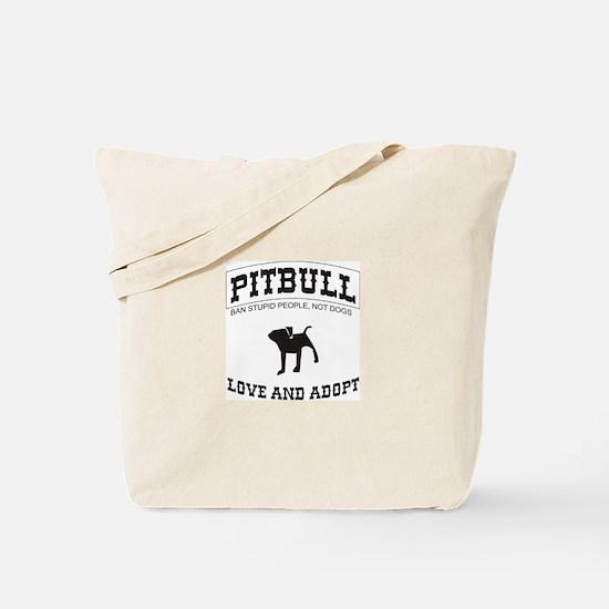 Pitbull pup Tote Bag