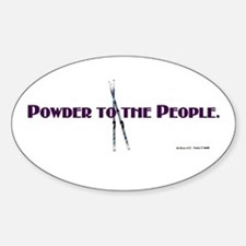 Powder to the People Oval Decal