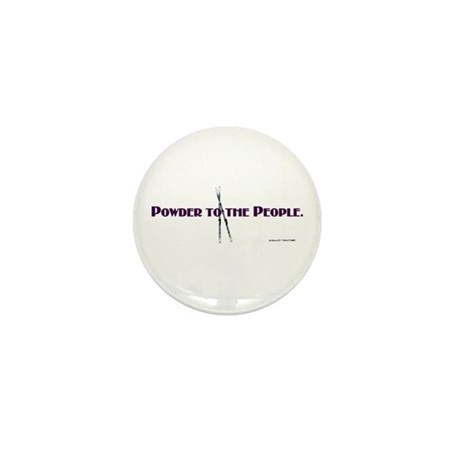 Powder to the People Mini Button (100 pack)