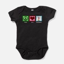 Peace Love Gymnastics Baby Bodysuit