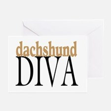 Dachshund Diva Greeting Cards (Pk of 10)