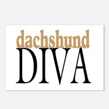 Dachshund Diva Postcards (Package of 8)