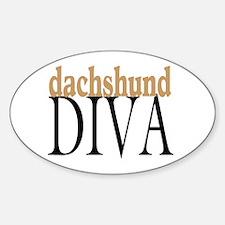 Dachshund Diva Oval Decal