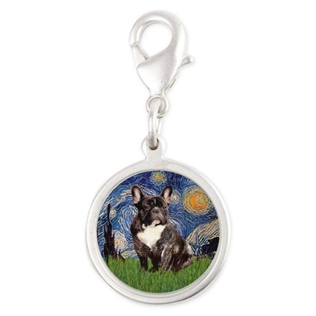 Starry-Brindle French Bulldog Charms