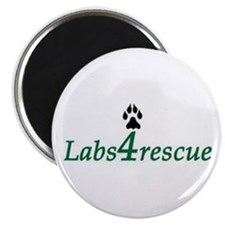 "Labs4rescue 2.25"" Magnet"