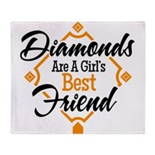 Diamonds BG Throw Blanket