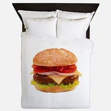 yummy cheeseburger photo Queen Duvet