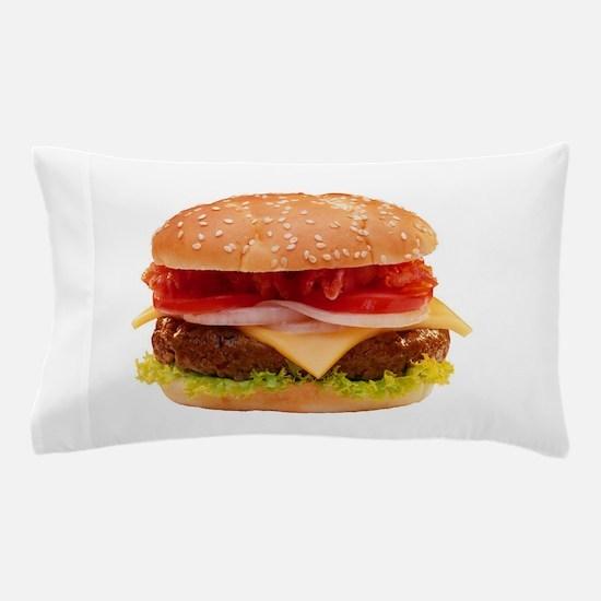 yummy cheeseburger photo Pillow Case