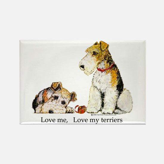 Love my TERRIERS! Rectangle Magnet