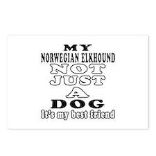 Norwegian Elkhound not just a dog Postcards (Packa