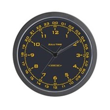 Zulu Time Military Wall Clock