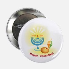 Chanukka Symbols Button