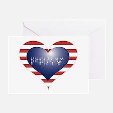 PRAY HEART Greeting Card