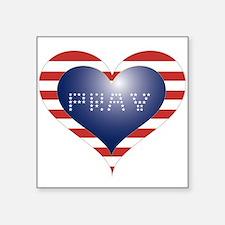 "PRAY HEART Square Sticker 3"" x 3"""
