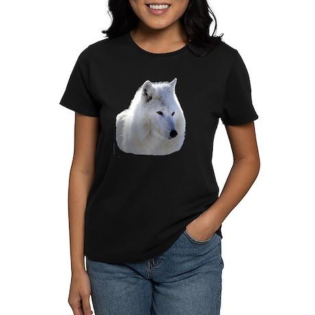 Timber Wolf - White Wolf Women's Dark T-Shirt