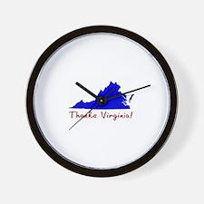 Thanks Virginia! Wall Clock