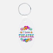 I Love Theatre Keychains