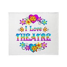I Love Theatre Throw Blanket